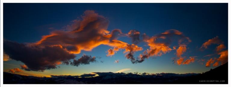 Mt Rose Cloud Panoramic
