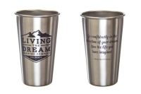 Stainless Pint Front & Back